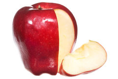 Red apple with slice Stock Image