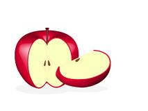 Red apple slice Royalty Free Stock Photography