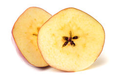 Red apple slice Royalty Free Stock Photos