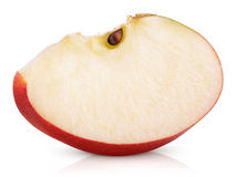 Red apple slice on white Stock Photography