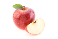Red Apple and slices of Apple Stock Photo