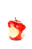 Red apple with some bites Royalty Free Stock Photo