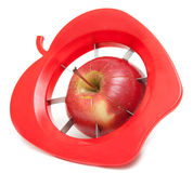 Red apple and special knife Stock Photo