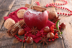 Red apple and spice Stock Photography