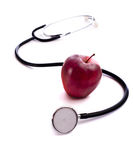 Red Apple and a Stethescope Stock Photos