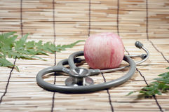 Red apple and Stethoscope Royalty Free Stock Image