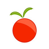 Red apple symbol Royalty Free Stock Images