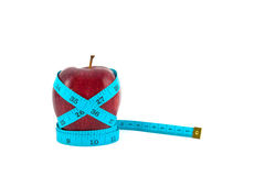 Red apple with tape Royalty Free Stock Image