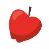 Red apple taste fruit nature icon Stock Image