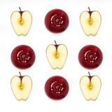 Red apple Top view Stock Image