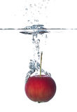 Red apple under water Royalty Free Stock Photography
