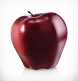 Red apple, vector icon Royalty Free Stock Image
