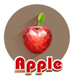 Red apple vector icons of triangles Royalty Free Stock Photo