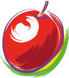 Red Apple. Vector illustration of a red apple Royalty Free Stock Photos