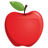 Red Apple Vector Illustration. Eps10 Royalty Free Stock Photo