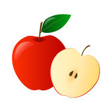 Red apple Stock Photo