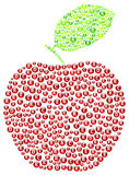 Red Apple. Vitamins Concept Illustration Stock Photos