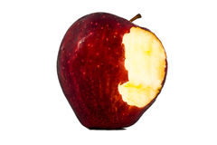 The red apple was bitten with white illustration Royalty Free Stock Photos