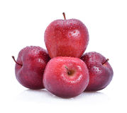 Red apple with water drop Royalty Free Stock Images