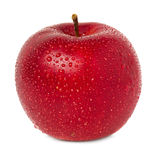 Red apple with water drops Royalty Free Stock Images