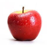 Red apple with water drops isolated Royalty Free Stock Photo