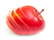 Red apple on white Stock Image