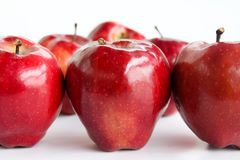 Red  Apple on white background Stock Photography