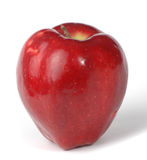 Red apple on white background.  Stock Photo
