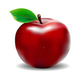 Red apple. On a white background Royalty Free Stock Photo