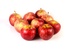 Red apple. On white background stock photos