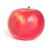 Red apple on white. Background stock images
