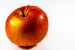 Red apple. On a white background Royalty Free Stock Photography