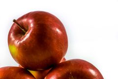 Red apple. On a white background Stock Image