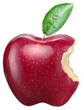 Red apple on a white background. Royalty Free Stock Image