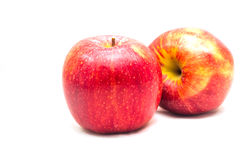 Red apple  on white background cut out Royalty Free Stock Photo