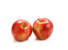 Red apple on white background. Fresh red apple on white background stock photography