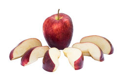 Red apple. On white background (isolated Stock Images