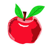 Red apple on a white background Royalty Free Stock Photography