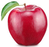 Red apple on a white background. Stock Photography
