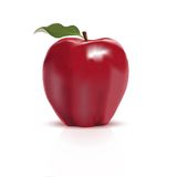Red apple on white background Royalty Free Stock Image