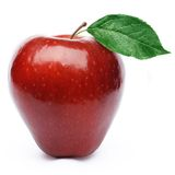 Red Apple With Leaves Royalty Free Stock Photos