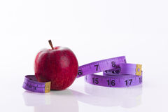Free Red Apple With Tape Measure Royalty Free Stock Photo - 34414155