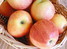 Red Apples. A basket of beautiful red and yellow apples Stock Photos