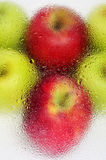 Red apples. Closeup of some delicous and fresh red apples Royalty Free Stock Photography