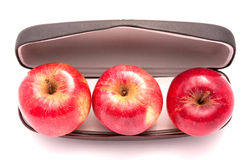 Red apples. Selection of nice looking red apples Stock Photos
