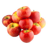 Red apples. On white isolated background Royalty Free Stock Photography