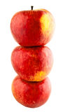 Red apples. On white isolated background Stock Photo