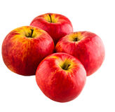 Red apples. On white isolated background Stock Images