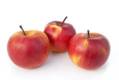 Red apples. On a white background Royalty Free Stock Image