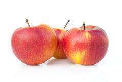 Red apples. On a white background Royalty Free Stock Photography